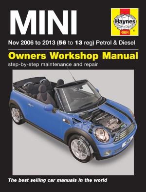 Haynes Manual BMW Mini 2006  2013 Car Workshop Repair