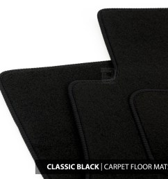 details about floor mats set to fit ford transit connect van 2 fixings 13 18 classic black [ 1500 x 1500 Pixel ]