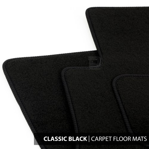 small resolution of details about floor mats set to fit ford transit connect van 2 fixings 13 18 classic black