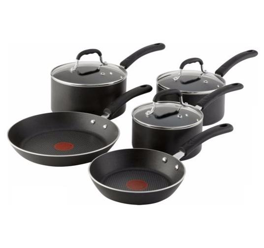 Tefal Non-Stick 5 Piece Pans Set 3 Saucepans 2 Frying Pans ...
