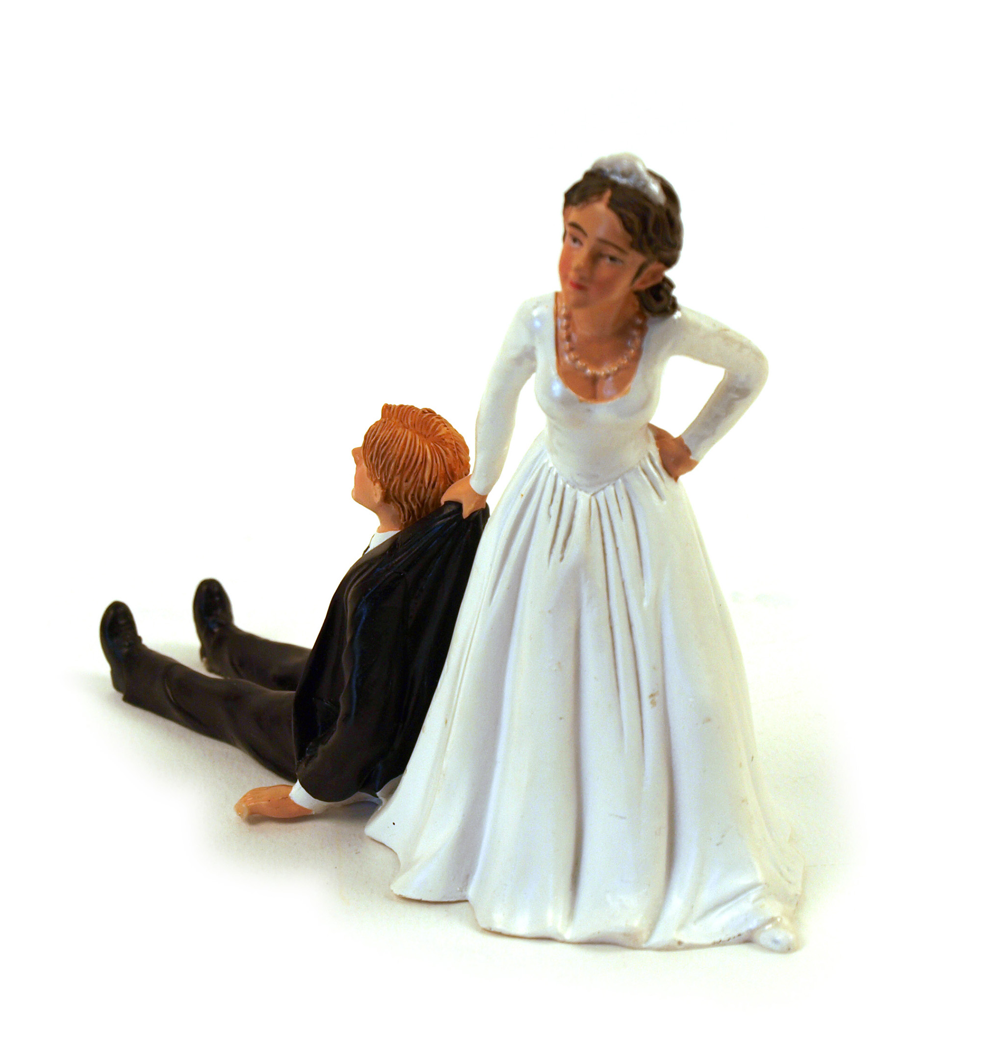 Reluctant Groom Cake Topper Pink Cat Shop