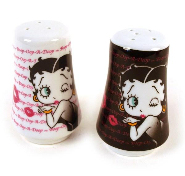 Betty Boop Salt And Pepper - Kisses Pink Cat
