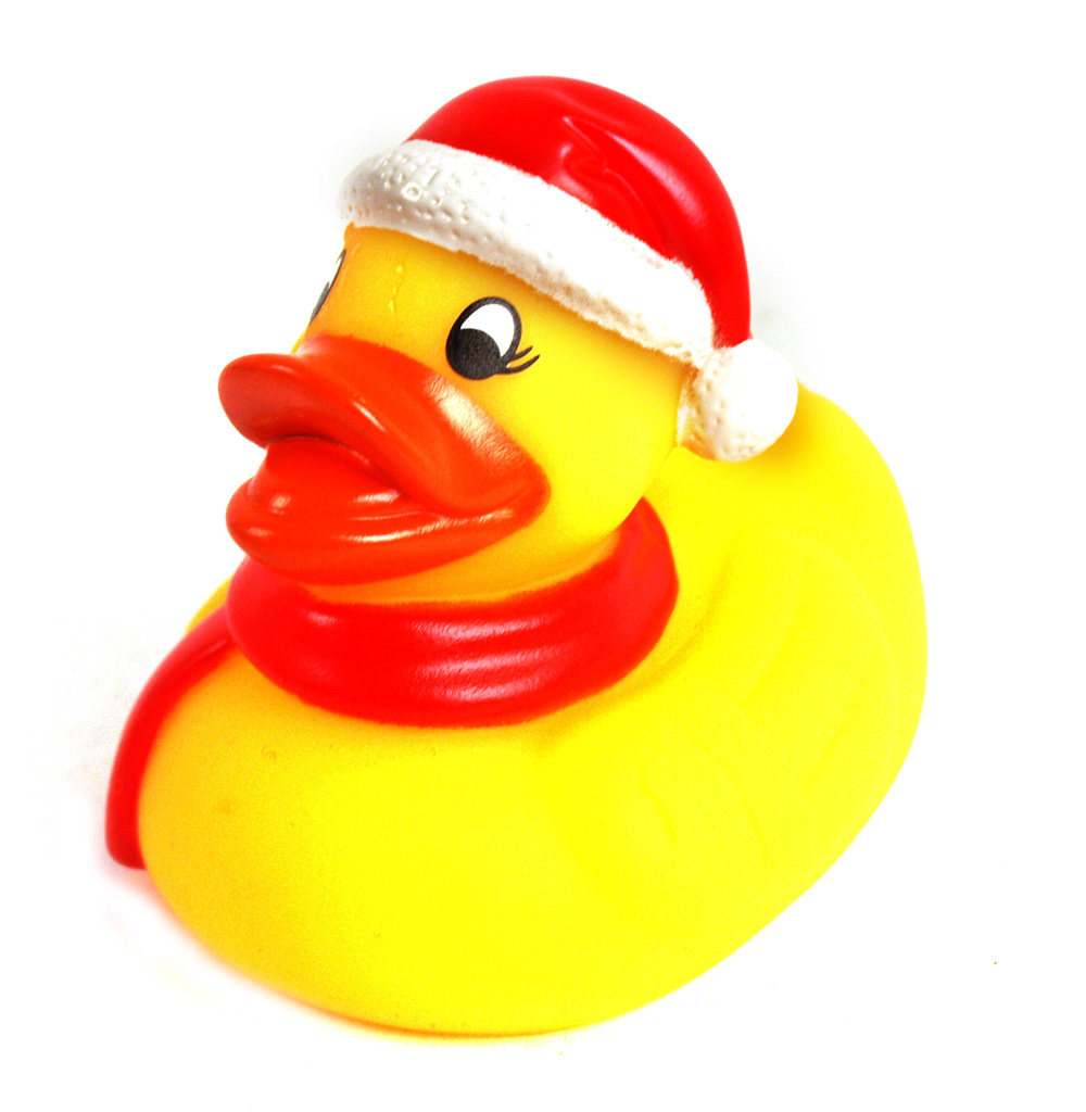 Christmas Rubber Duck Pink Cat Shop