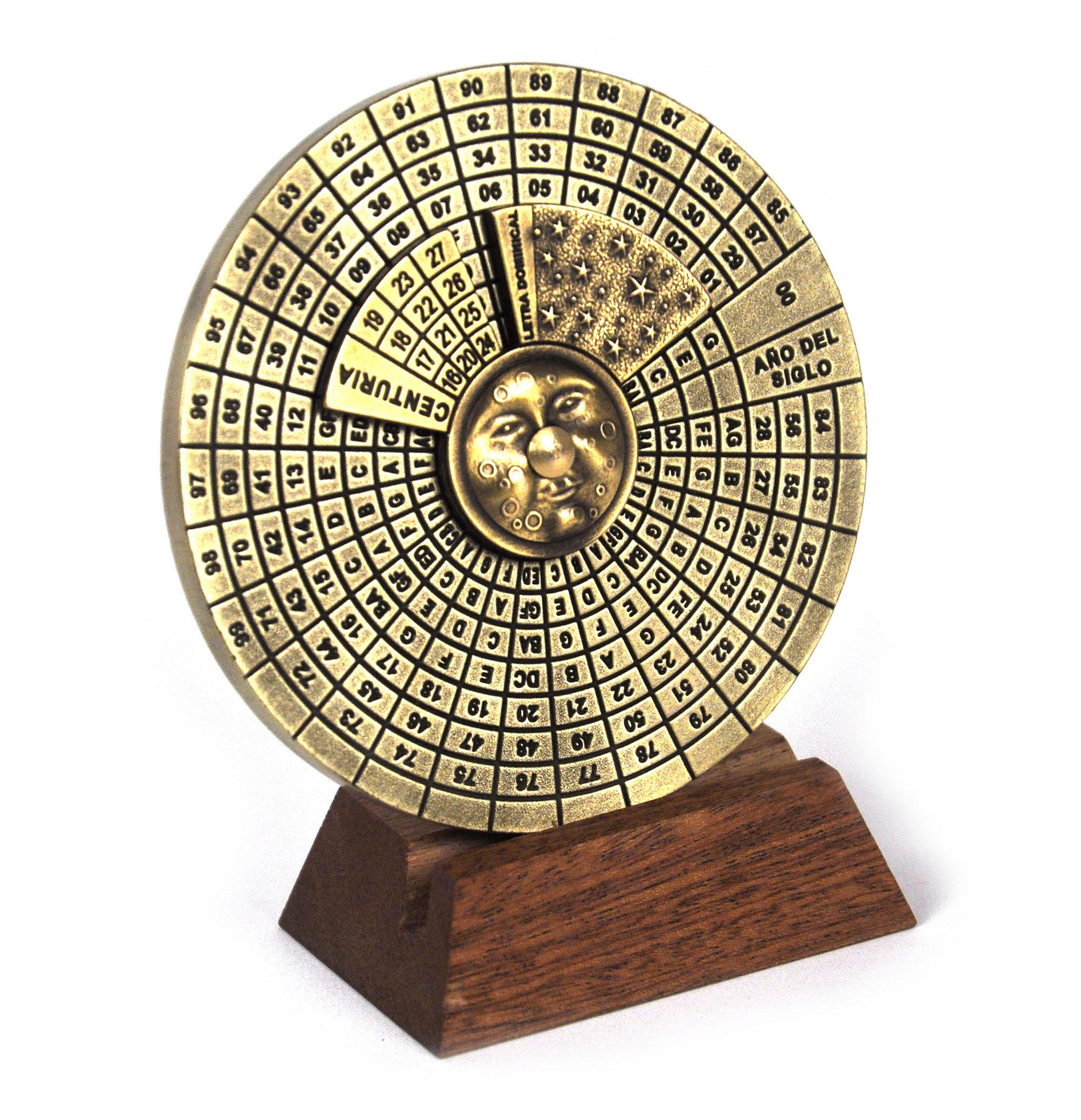 Perpetual Calendar  Hemispherium Antique Scientific