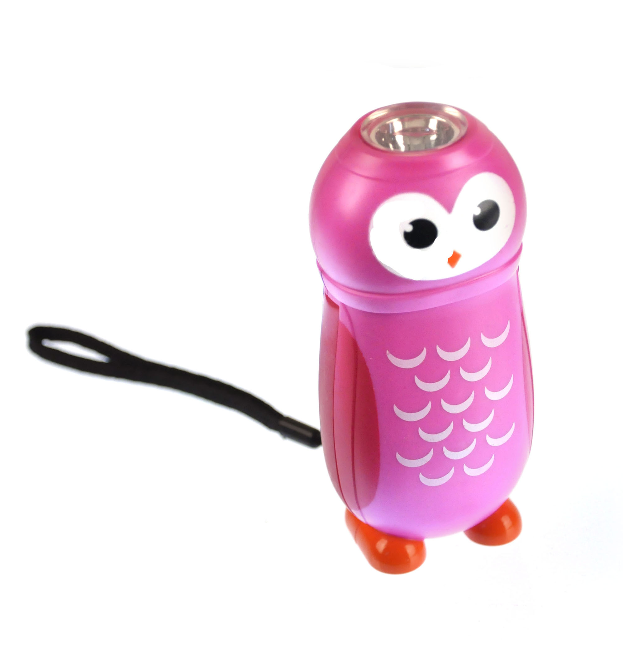 Owl Hand Powered Torch Random Pink Or Blue Pink Cat Shop