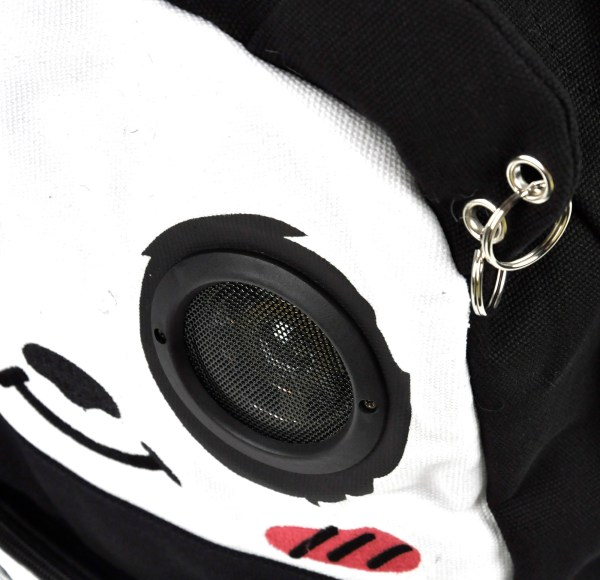 Happy Panda Backpack With Speakers Pink Cat