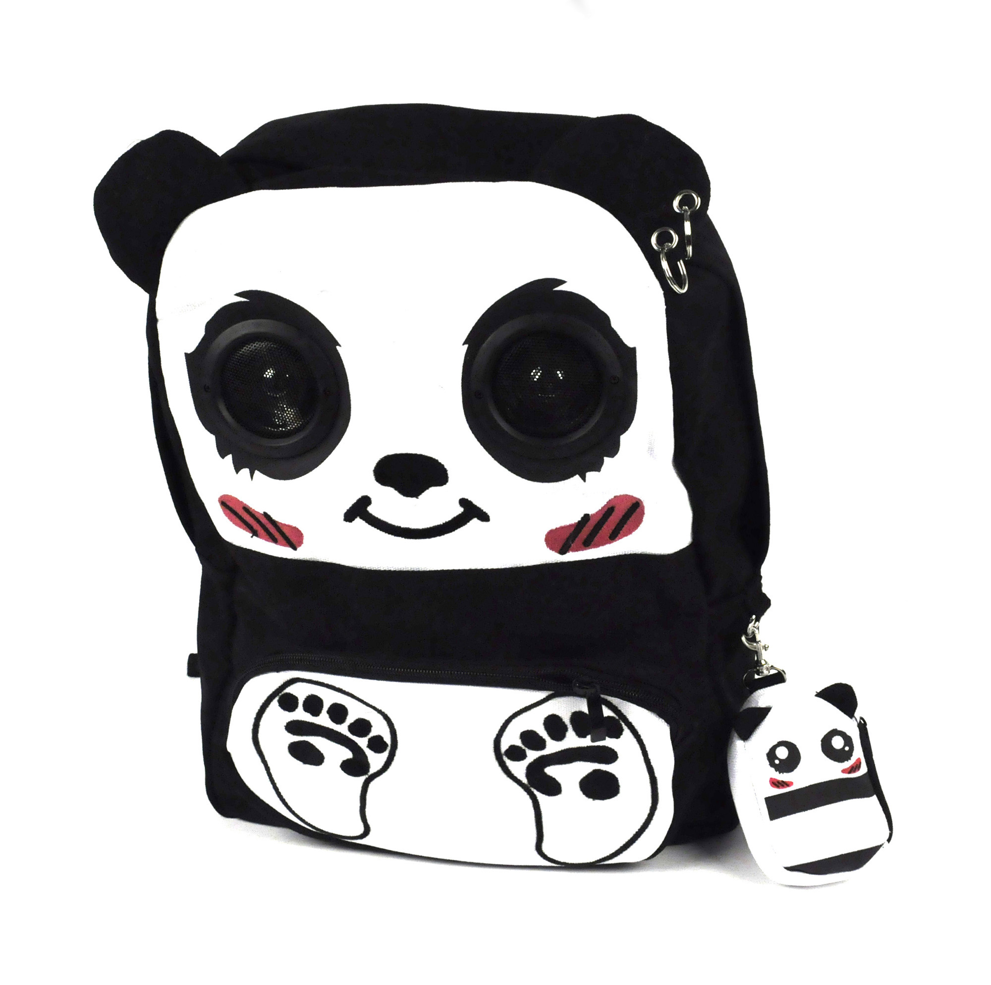 Happy Panda Backpack With Speakers Pink Cat Shop