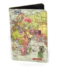 Global Map Passport Holder | Pink Cat Shop