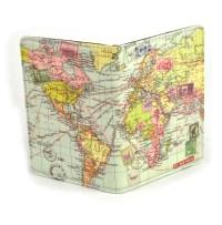 Global Map Passport Holder