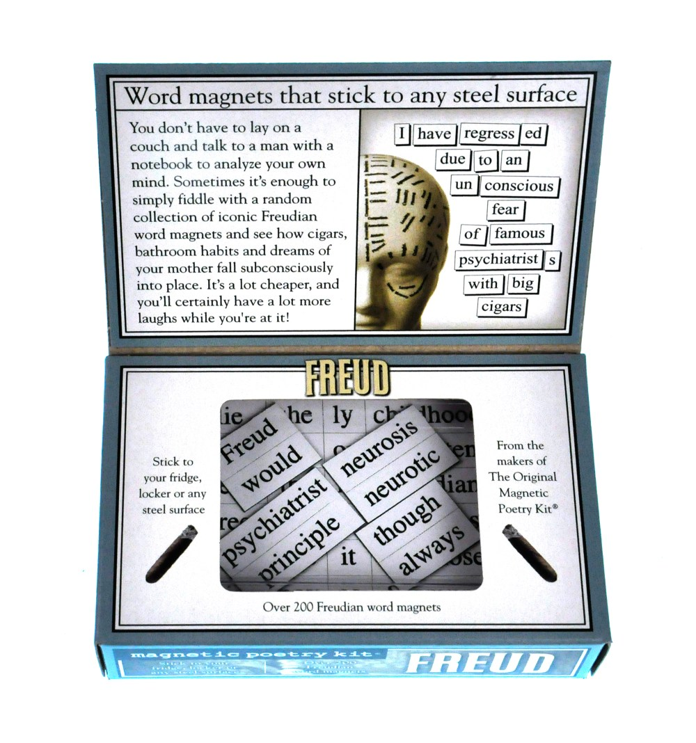 medium resolution of sentinel freud fridge magnet poetry set psychoanalysis fridge poetry
