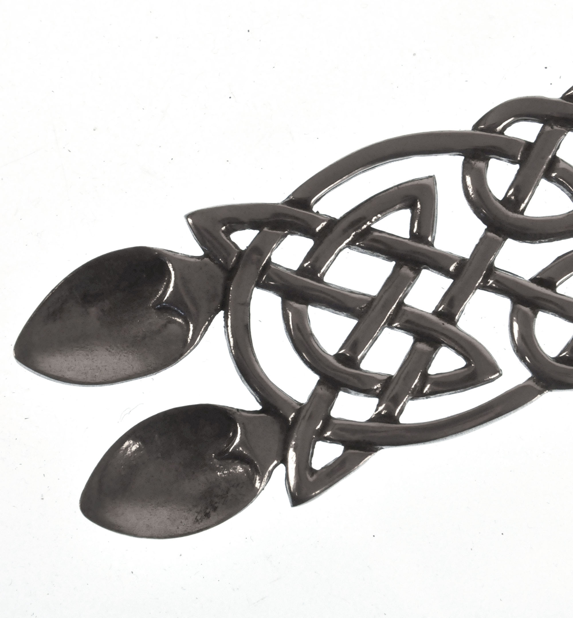 Neverending Twin Spoon Dragon Celtic Knot Lovespoon