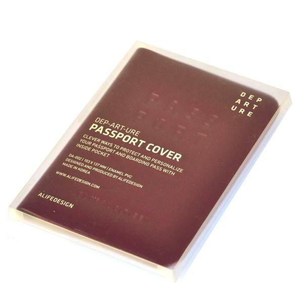 Dep-art-ure Violet Pvc Passport Holder - Global Citizen