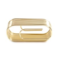 Giant Brass Paper Clip Paper & Note Holder - Clip Note ...