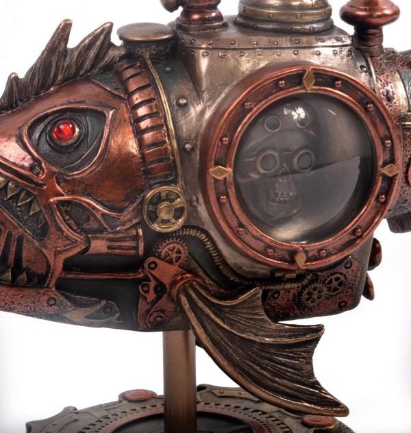 Piranha Steampunk Sculpture 22.5cm