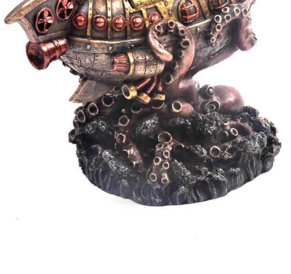 Leviathan' Escape Steampunk Sculpture 20 Cm Pink Cat