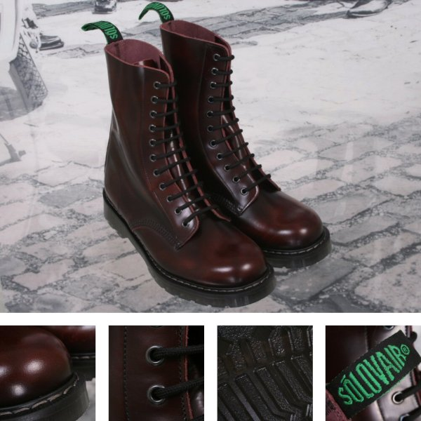 Solovair Boot Burgundy Rub Off Year Of Clean Water