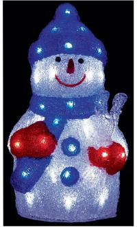 38cm LED Acrylic Snowman Xmas Decoration Indoor & Outdoor ...