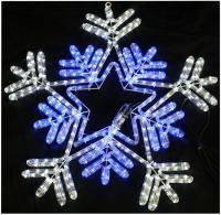 65cm Blue & White LED Snowflake Rope Light Xmas Lights ...