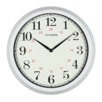 NEW Large 35cm Home Kitchen Plastic Wall Clocks Red Black ...