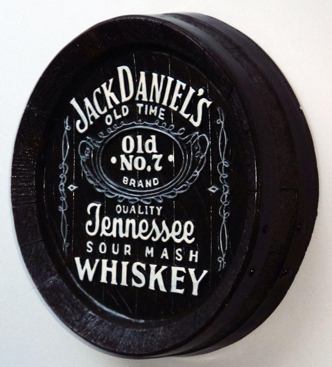 """NEW 13"""" Whiskey Barrel Top Jack Daniels Pub Sign Wall Bar"""