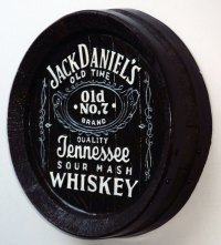 "NEW 13"" Whiskey Barrel Top Jack Daniels Pub Sign Wall Bar"