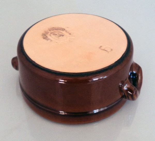 """5"""" Glazed Clay Terracotta Tapas Casserole Dish With Lid"""