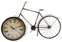 Metal Wall Art Old Fashioned Bicycle Clock Ornament | eBay