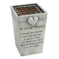 In Loving Memory Grave Flower Vase Holders - Graveside ...