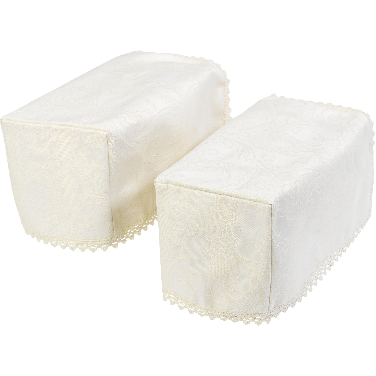 chair arm protectors set of 4 kitchen chairs cream decorative jacquard damask caps round or square