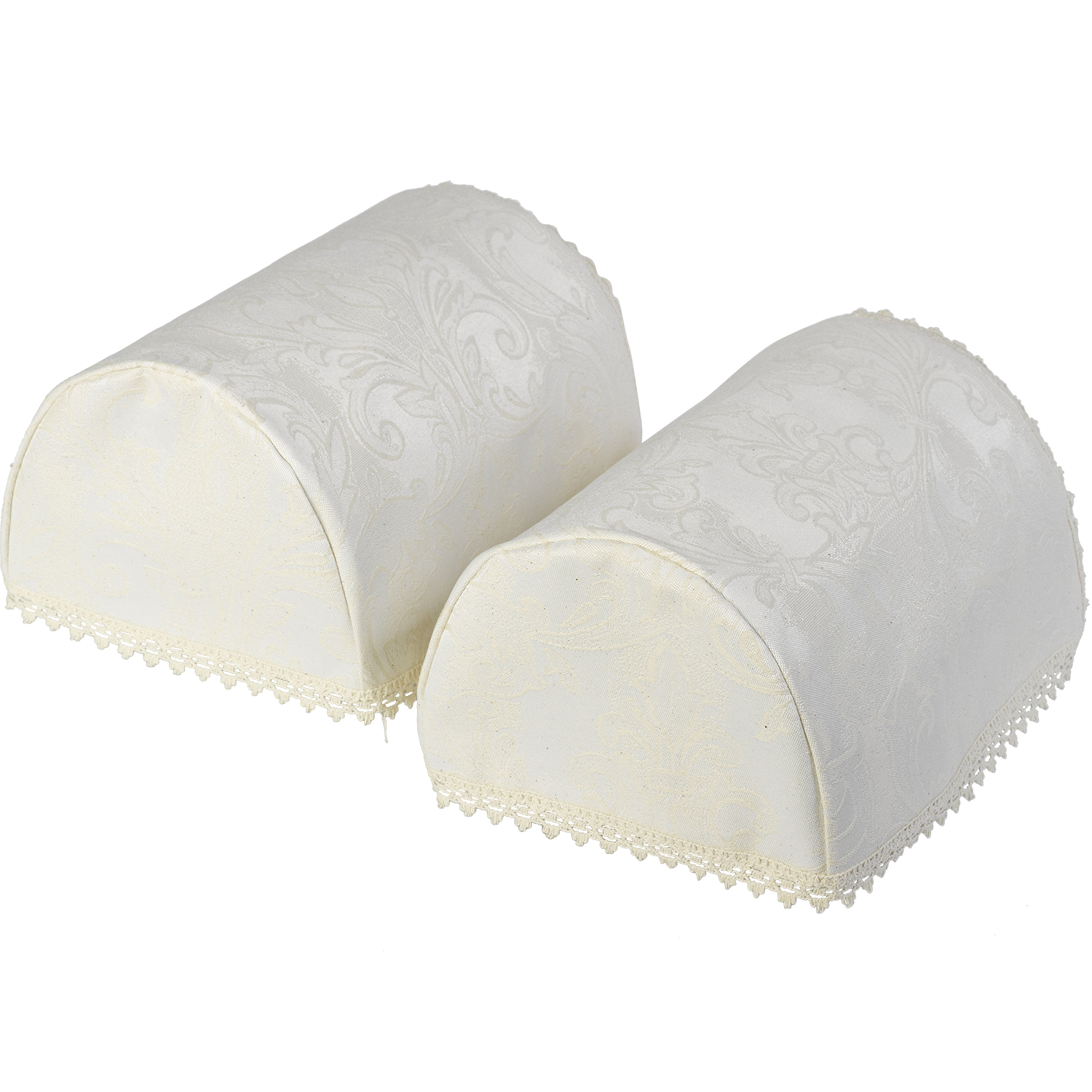 chair arm protectors pattern ikea padded covers cream decorative jacquard damask caps round or square