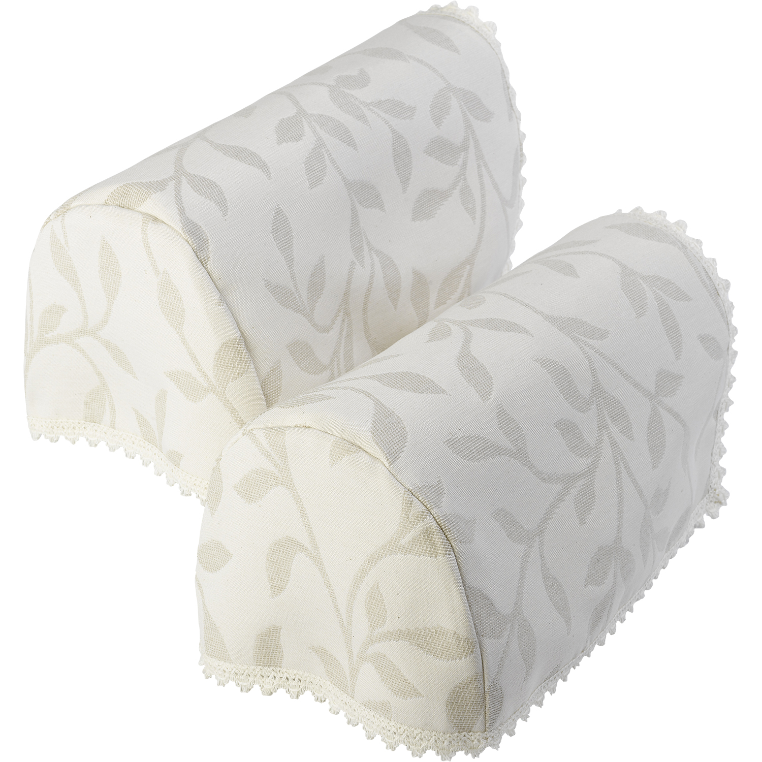 arm chair covers ebay walmart folding chairs and tables decorative pair of round caps traditional floral leaf