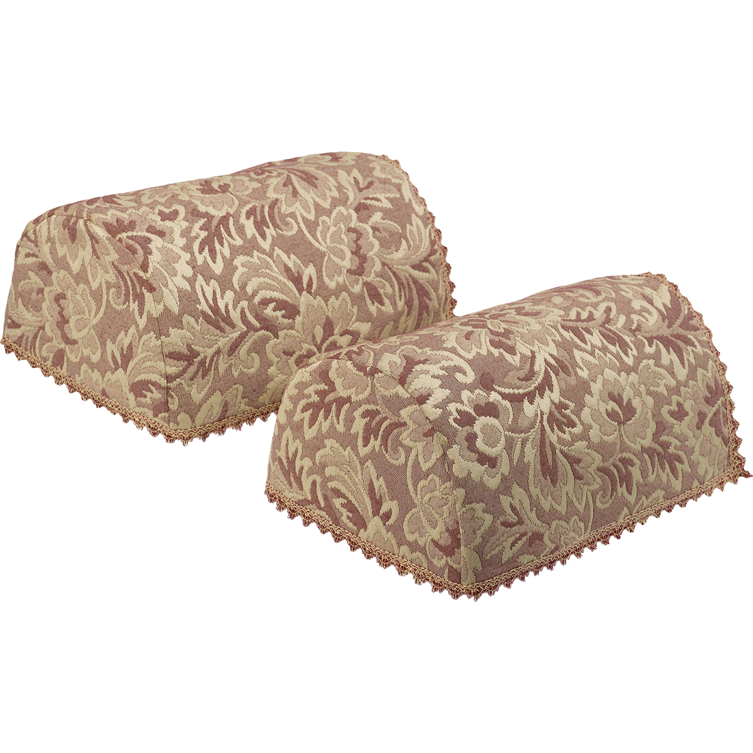 arm chair cap covers backpack with cooler decorative pair of round floral jacquard napery