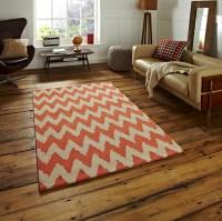 Modern Zig Zag Floor Rug 100% Premium Acrylic Hand Tufted ...