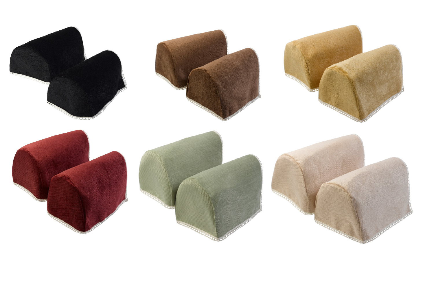 chair arm protectors quantum power chairs decorative chenille rounded caps pair antimacassar