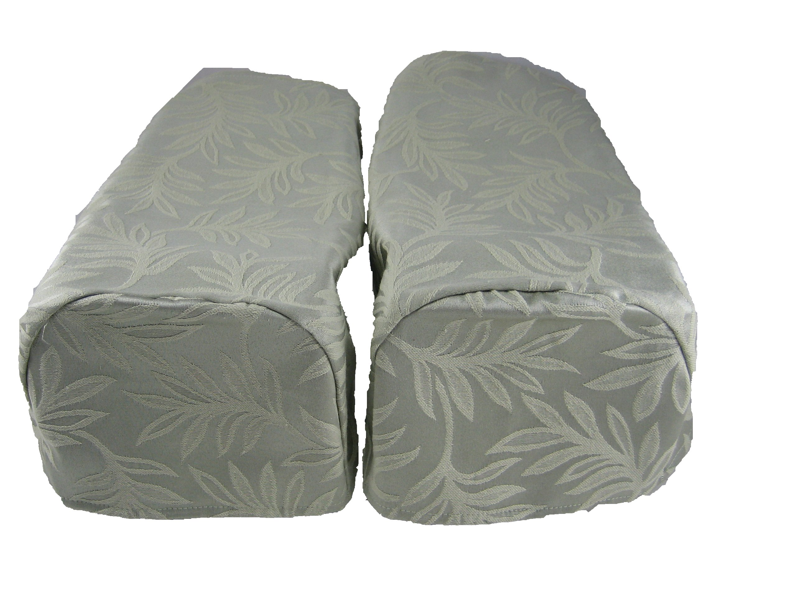 decorative chair covers heavy duty folding camping chairs 2 x settee arm cap green pair ebay