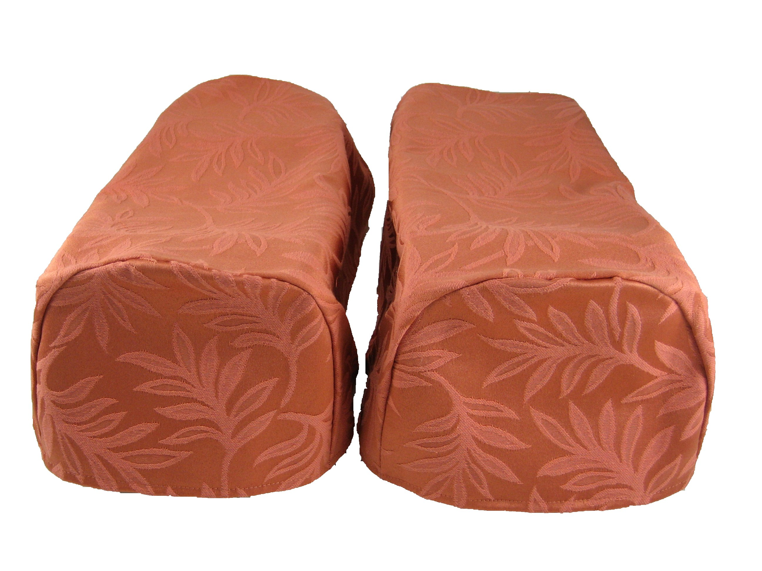 chair arm protectors pattern office chairs home depot pair of decorative caps settee covers
