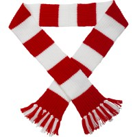 Rugby Football Striped Scarf Knitting Pattern & Wool