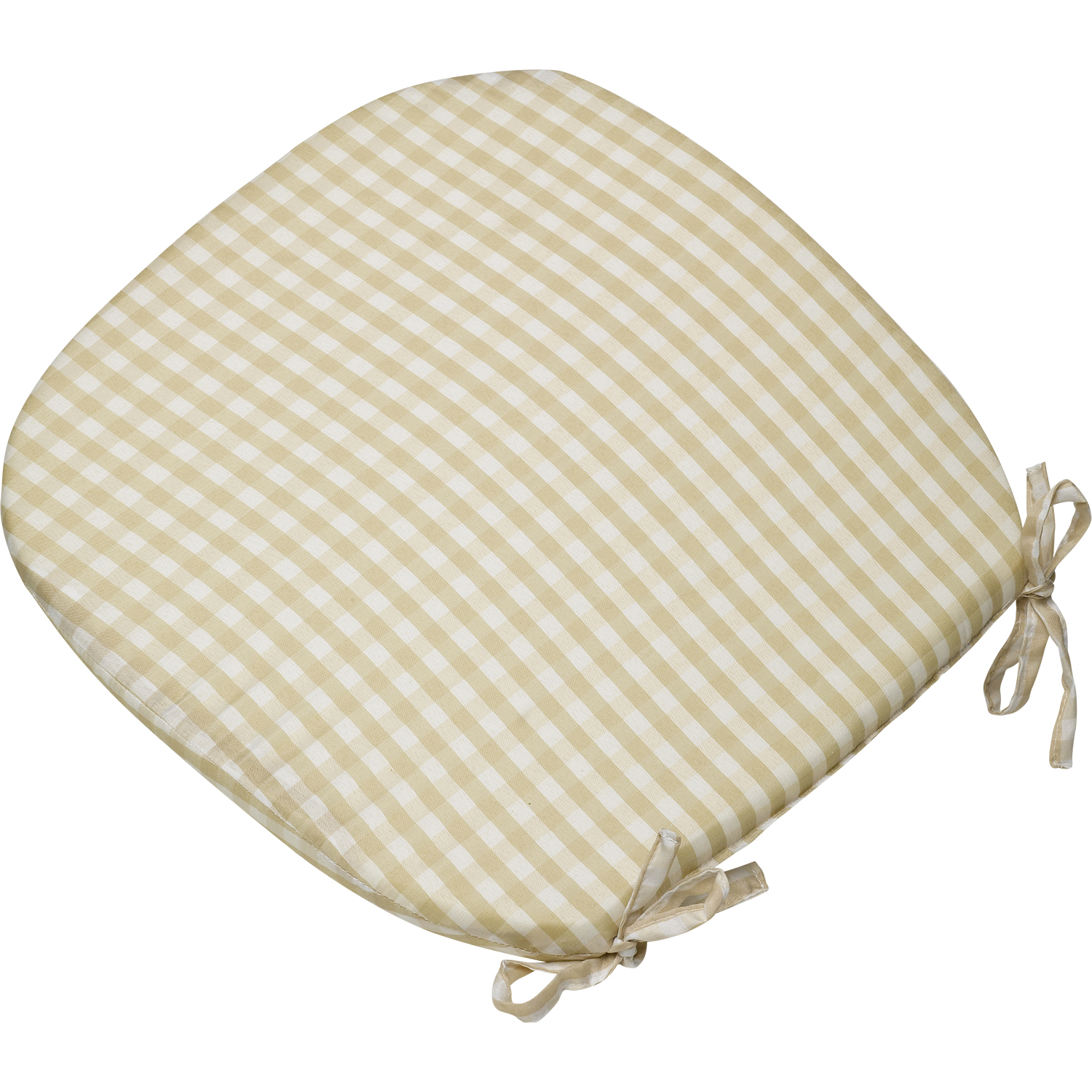 Gingham Check Tie On Seat Pad 16 x 16 Kitchen Outdoor