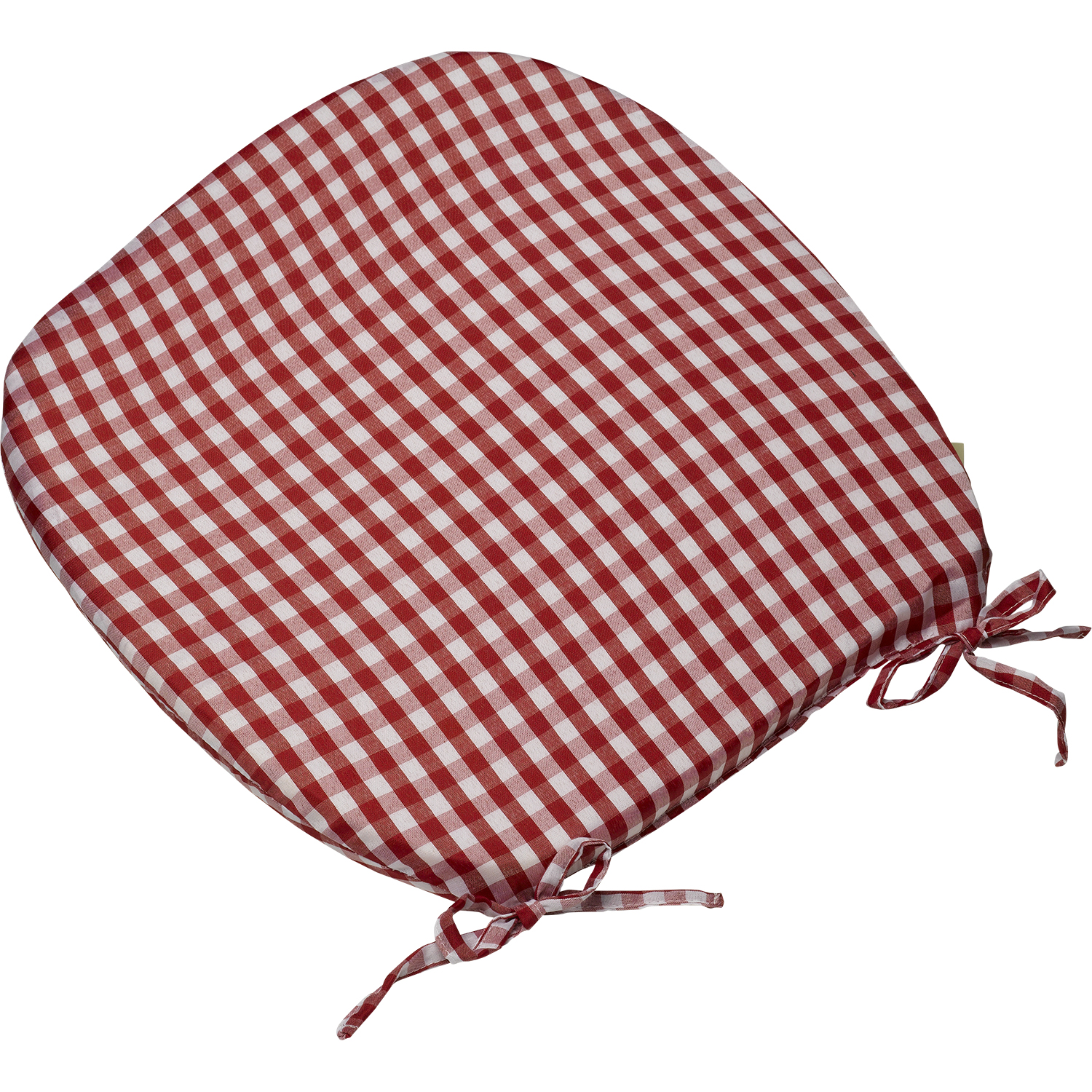 16 round chair cushions pool chaise lounge chairs gingham check tie on seat pad quot x kitchen outdoor