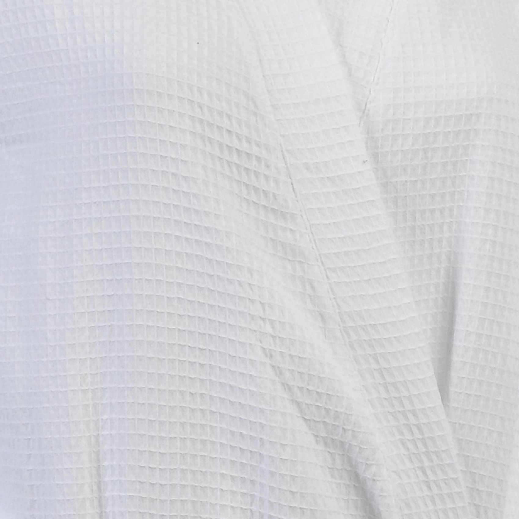 100% Cotton White Waffle Texture Wrap Dressing Gown Ladies