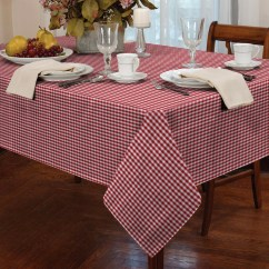 Gingham Dining Room Chair Covers Cheap Under $1 Tablecloth Check Table Linen Kitchen