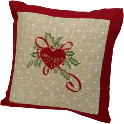 Ebay Uk Christmas Chair Covers Cheap Rental Festive Embroidered Cushion Cover Decorative