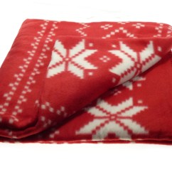 100 Polyester Sofa Throws Bed Black Red Snowflake Christmas Blanket Soft Polar