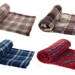 100 Polyester Sofa Throws Slim End Tables Tartan Check Throwover Soft Cosy Polar Fleece
