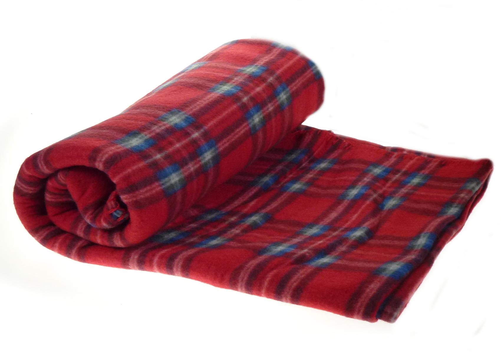 100 polyester sofa throws clroom soft polar fleece checked blanket tartan check bed