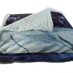 100 Polyester Sofa Throws Springfield Sectional Sherpa Fleece Super Soft City Scene Throw Reversible Bed