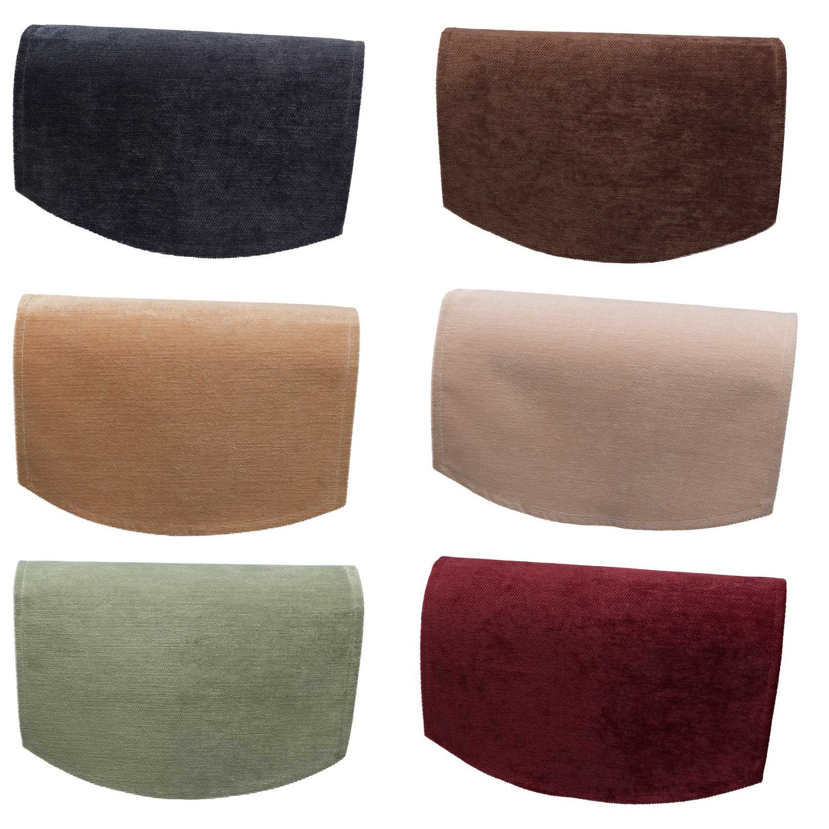 Arm Covers For Chairs Plain Soft Touch Chenille Single Chairback Antimacassar
