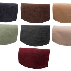 Chair Arm Protectors Seat Pads Chenille Single Back Plain Soft Touch Furniture