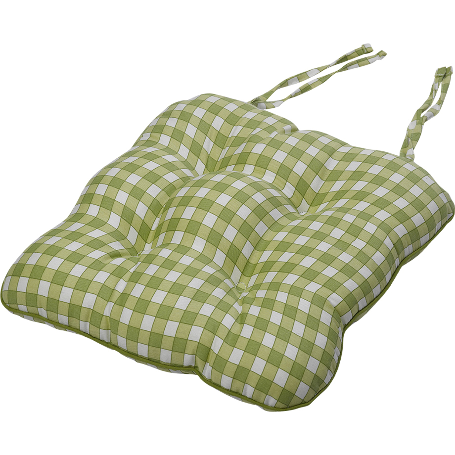 Gingham Chair Tie On Square Gingham Chair Seat Pad Cushion Outdoor