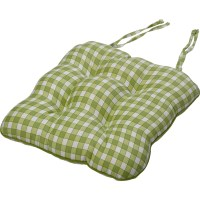 """Gingham Check Cotton Seat Pad 14"""" x 15"""" Kitchen Outdoor ..."""